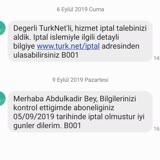TurkNet Altyapı Başvurusu İptali