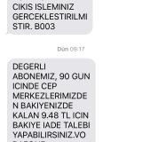 Vodafone TL Geri Yükleme