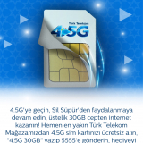 Türk Telekom 4.5G Ücretsiz Sim Karta Ücret Alıyor