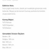 Modanisa Polyester Kumaşlı Ürün İçin Pamuklu Yazıyor