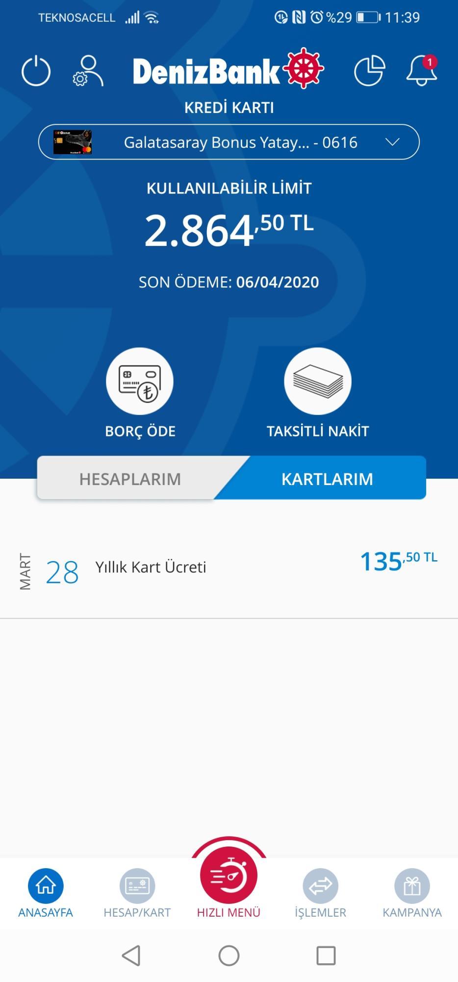 Denizbank - 70/2596 - Şikayetvar