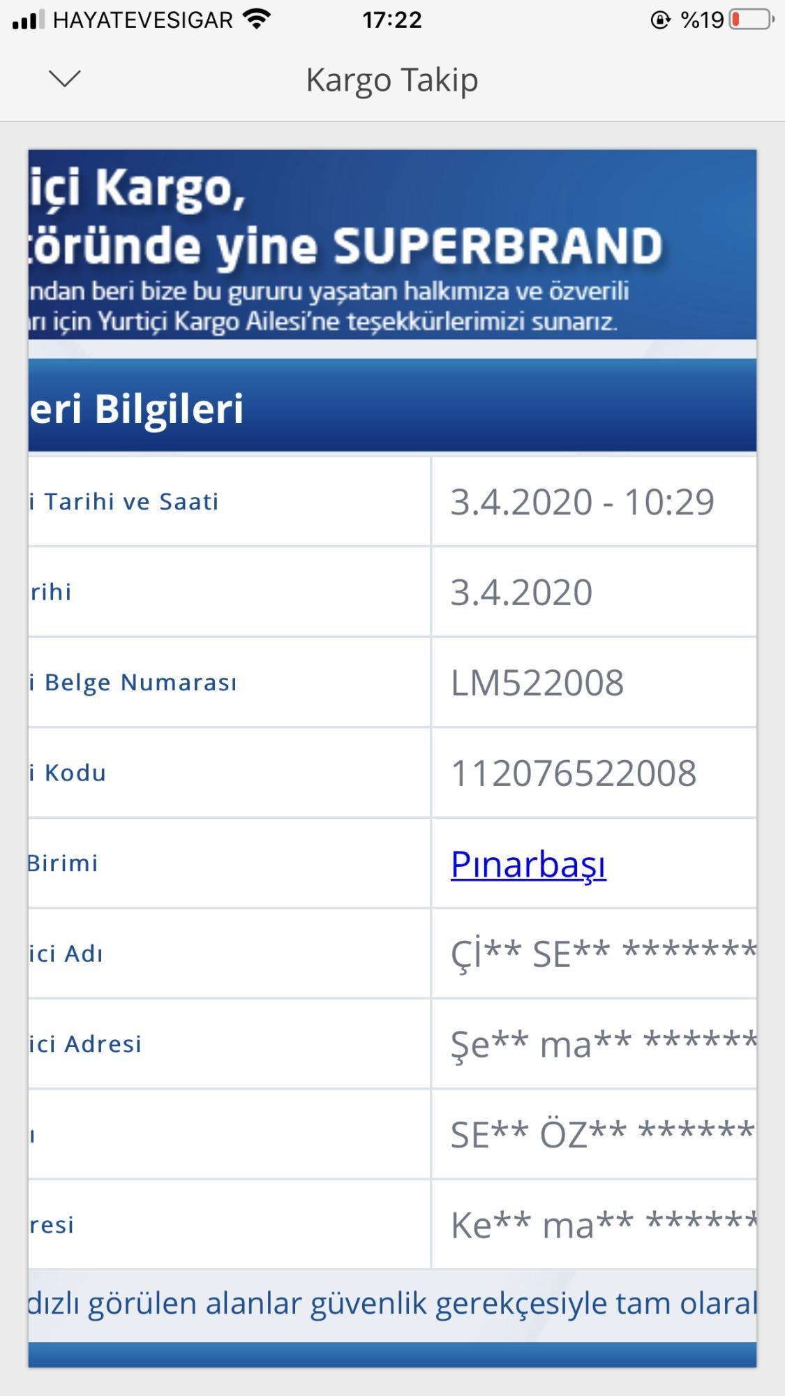 Yurtiçi Kargo Telefon Numarası ve İzmir Şikayetleri - Şikayetvar