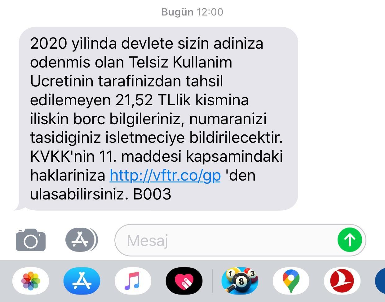 Vodafone Telsiz Kullanım Ücreti, Hat Taşıma - Şikayetvar