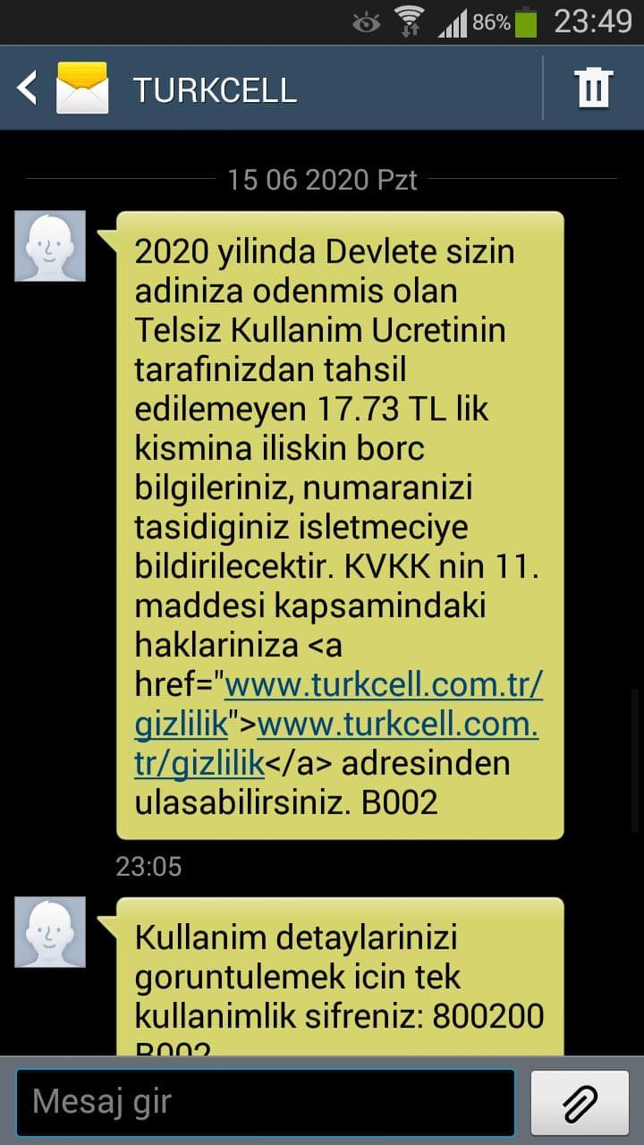 Turkcell Numara Taşıma ve Telsiz Kullanım Ücreti Şikayetleri - Şikayetvar