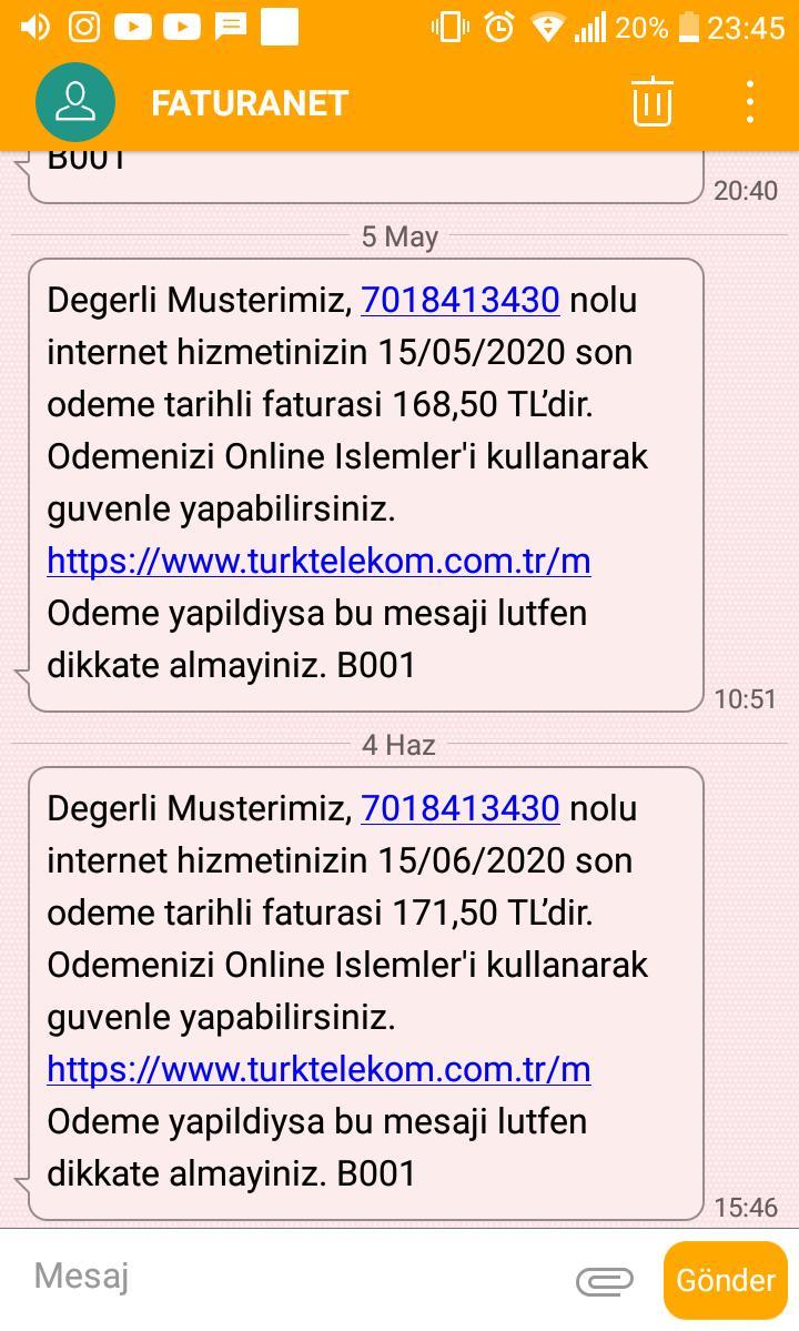 Türk Telekom Cep Telefon Kategori Cep Telefonları - Şikayetvar