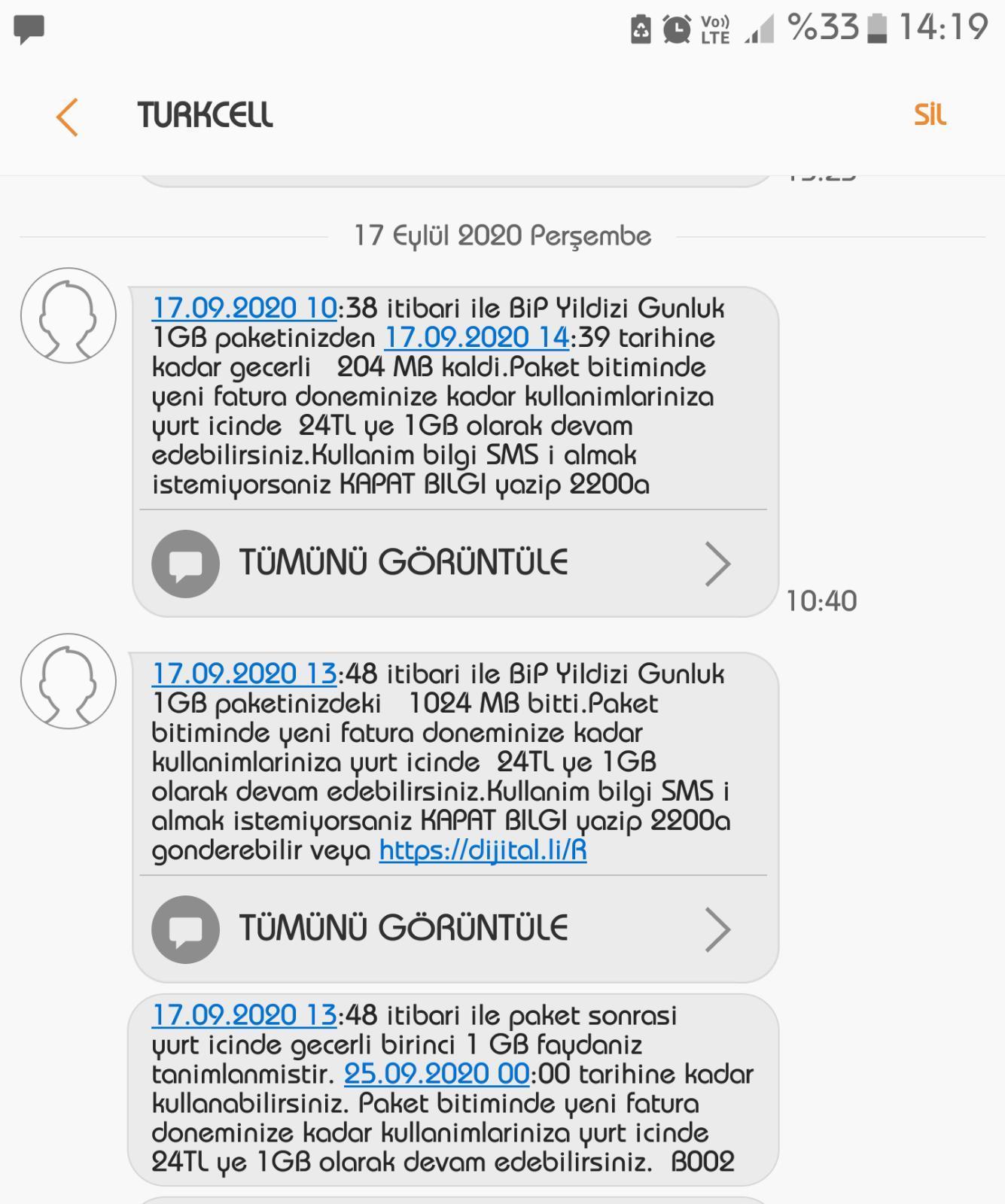 Turkcell İnternet Paketi Şikayetleri - Şikayetvar